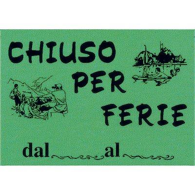 Cartello Segnaletico In Cartoncino Fluorescenti Cwr Chiuso Per