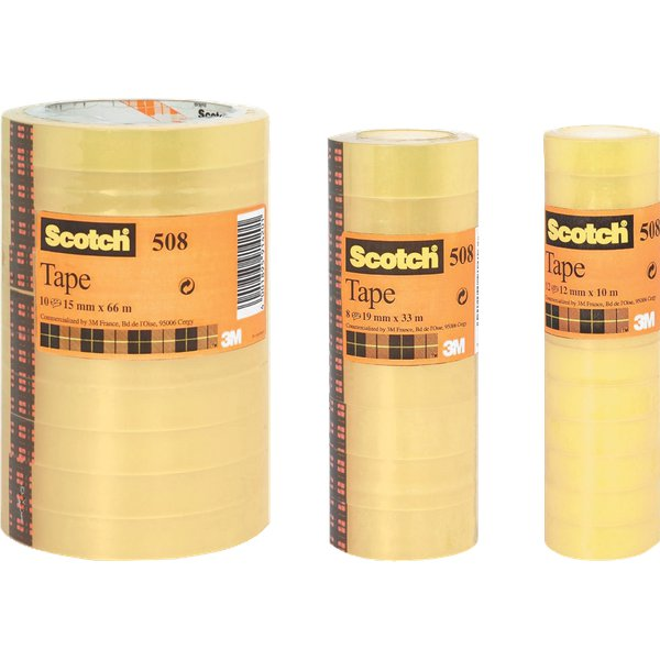Nastro trasparente Scotch® 508 - 19 mm x 66 m - 508-1966 (conf.8)