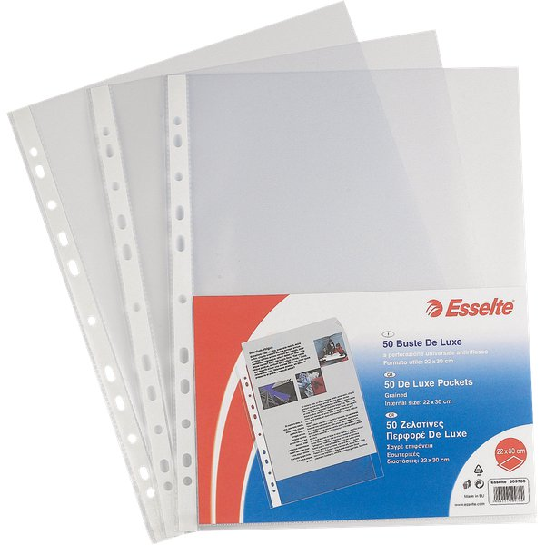 Buste perf. univers. Copy Safe Esselte - Office 30x42 cm goffrata antiriflesso - 552310 (conf.50)
