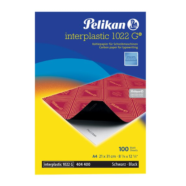 Carta carbone Interplastic 1022G Pelikan - nero - 0C01AE (conf.10)