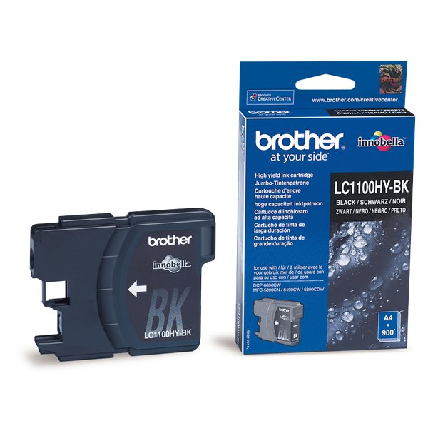 Originale Brother LC-1100HYBK Cartuccia inkjet alta resa SERIE 1100 nero