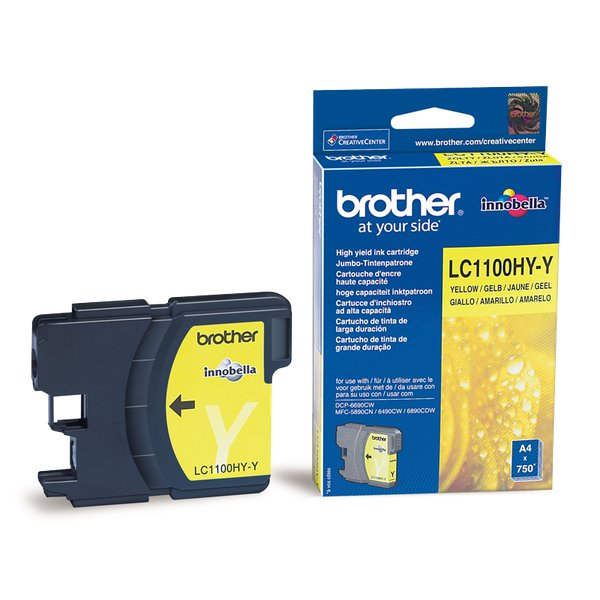 Originale Brother LC-1100HYY Cartuccia inkjet alta resa SERIE 1100 giallo