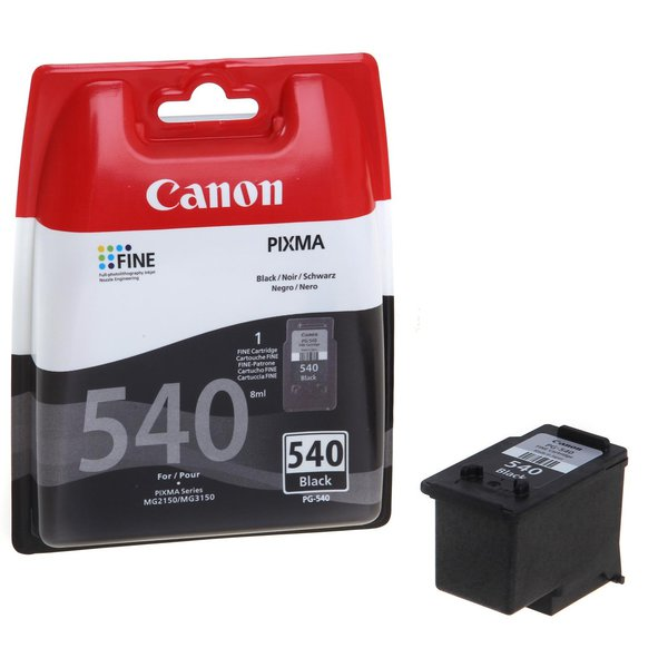 Originale Canon 5225B004 Serbatoio inchiostro ink pigmentato blister security Chromalife 100+ PG-540 nero