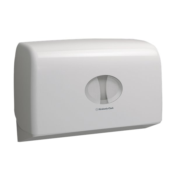 Dispenser Aquarius Kimberly Clark per Carta igienica Mini jumbo - 29,2x12,3x45,9 cm - 6947