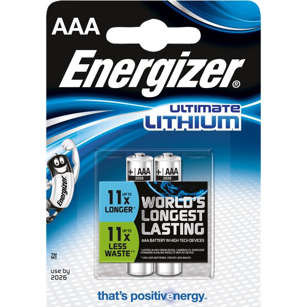 Pile Lithium Energizer - AAA - 1,5 - 635225 (conf.2)