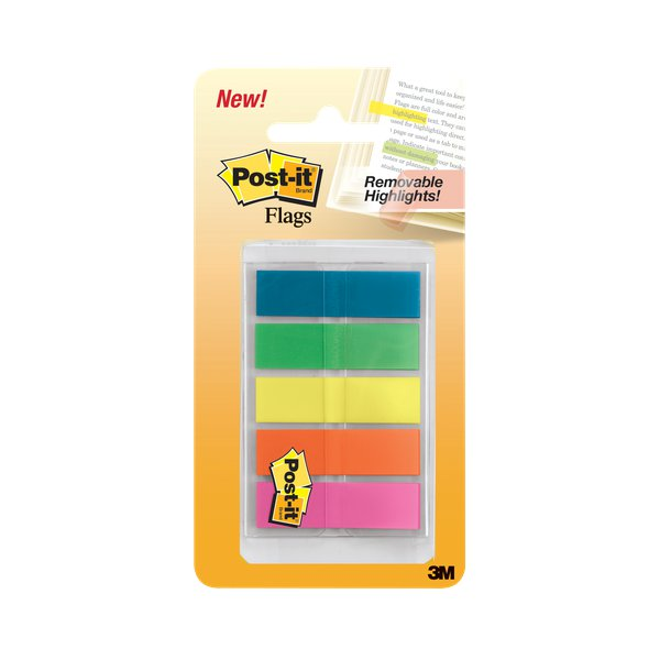 Post-it® Index Full Color 683 - arancio, blu, giallo, verde, viola - 683-HF5EU (conf.5)