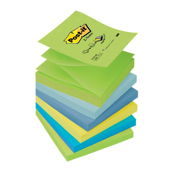 Ricariche Post-it® Z-Note- 76x76 mm - assortiti - R330-6R (conf.6)