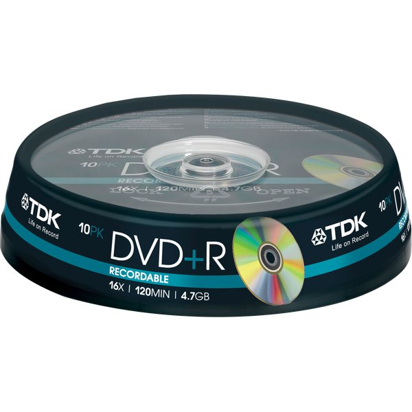 DVD TDK - Spindle - DVD+R - 16X - t19442 (conf.10)