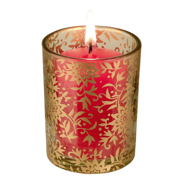 Porta candele Tealight Price's - vetro color ambra - GMV001231