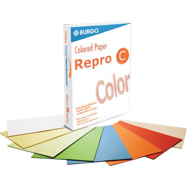 Carta colorata Repro C Color Burgo -  A3 - 80 g/mq - giallo intenso - 8587 (risma500)