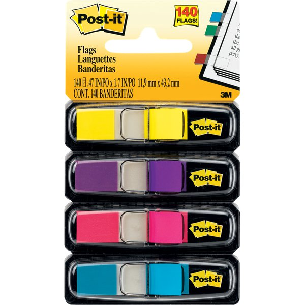 Post-it® Index Mini 683 - azzurro, fucsia, giallo, rosa - 683-4AB (conf.4)