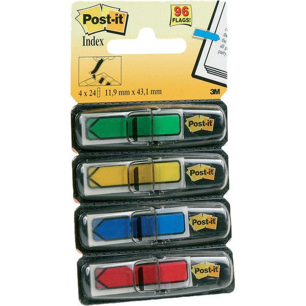 Post-it® Index Mini 684 - blu, giallo, rosso, verde - 684-ARR3 (conf.4)