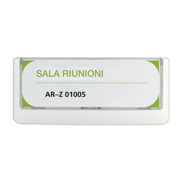Targa Click Sign Durable - 14,9x5,25 cm - bianco - 4860-02