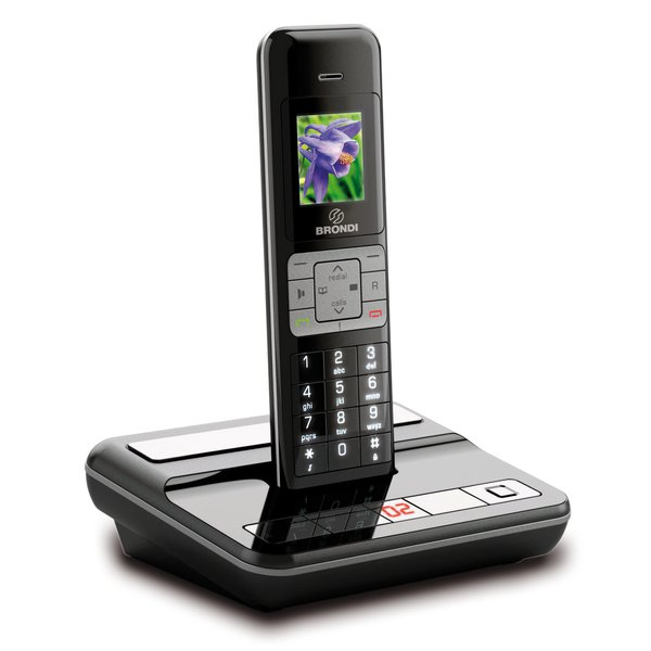 Telefono Cordless CAMBRIDGE COLOR SB Brondi - Nero