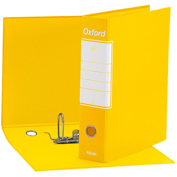 Registratori Oxford Esselte - protocollo - 8 cm - 23x33 cm - Giallo - 390785090 (conf.6)