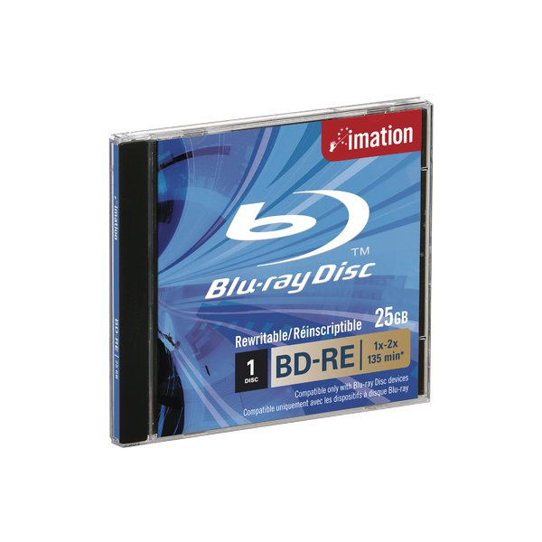 CD Imation - Jewel Case - 25 GB - Jewel Case - Blue Ray BD-RE - 2x - i19982 (Conf.5)
