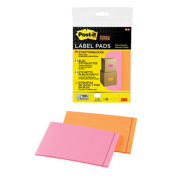 Etichette in blocchetto 73x117 mm Post-it® - rosa, arancione - 2900-OPEU (conf.2)