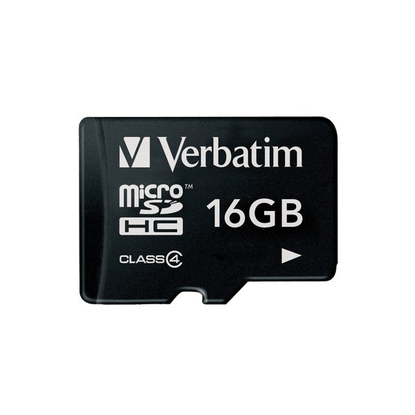 Micro SDHC Memory Card 16GB Verbatim - 16 GB - Memoria Flash - 44007