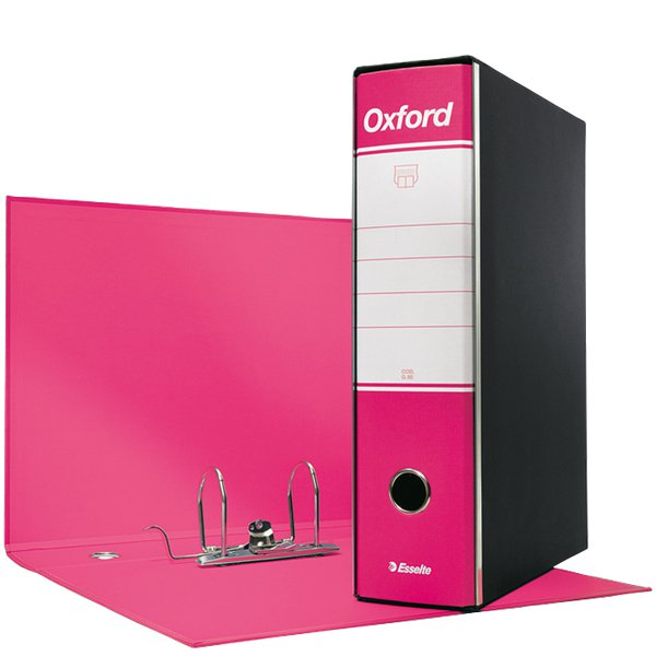 Registratori Oxford Esselte - commerciale - 8 cm - 23x30 cm - fucsia - 390783900 (conf.6)