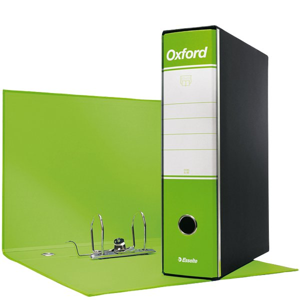 Registratori Oxford Esselte - commerciale - 8 cm - 23x30 cm - verde lime - 390783600 (conf.6)