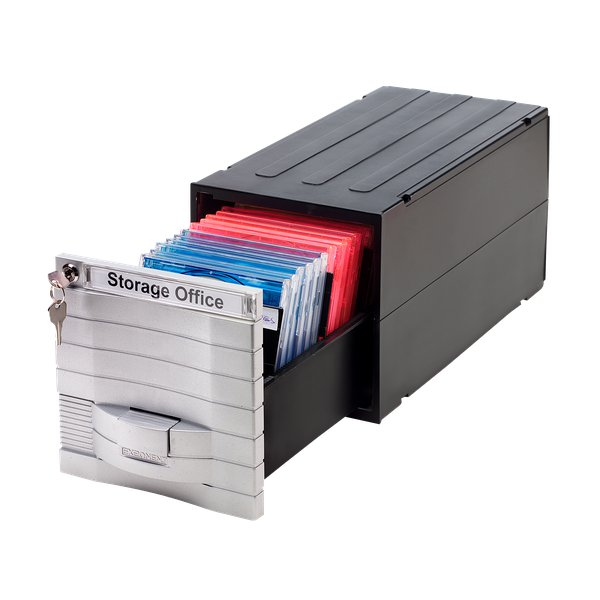 Schedari modulari MediaSolutions 160 Exponent World - CD ROM - 35x17x17,3 cm - 28 CD/DVD - 34601