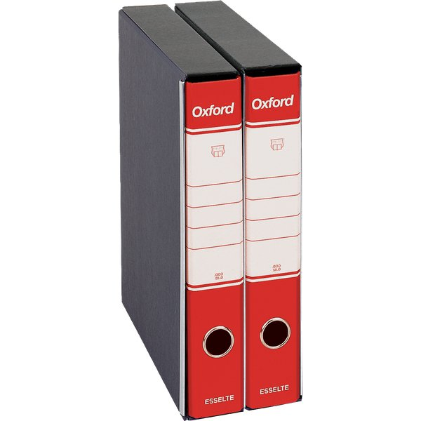 Registratori Oxford Esselte - commerciale - dorso 5 - F.to utile 23x30cm - rosso - 390782160 (conf.8)