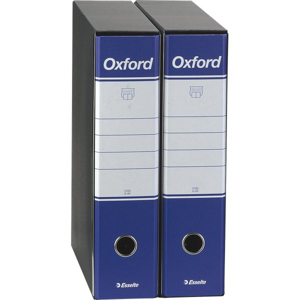 Registratori Oxford Esselte - commerciale  - dorso 8 - F.to utile 23x30 cm - blu - 390783050 (conf.6)