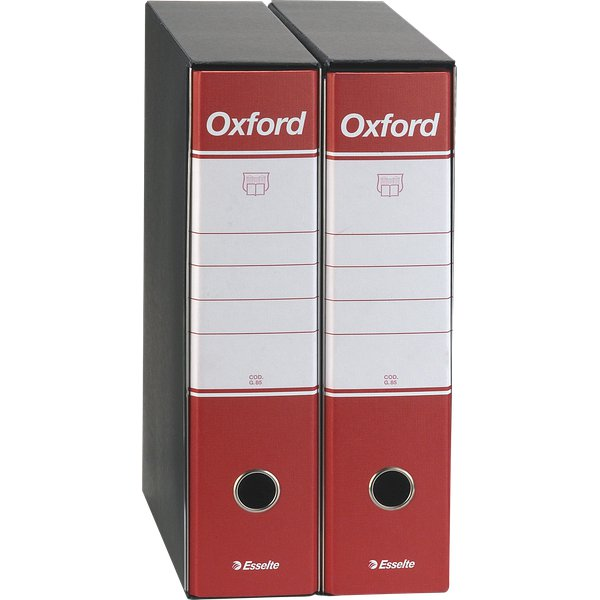 Registratori Oxford Esselte - commerciale - dorso 8 - F.to utile 23x30cm - rosso - 390783160 (conf.6)