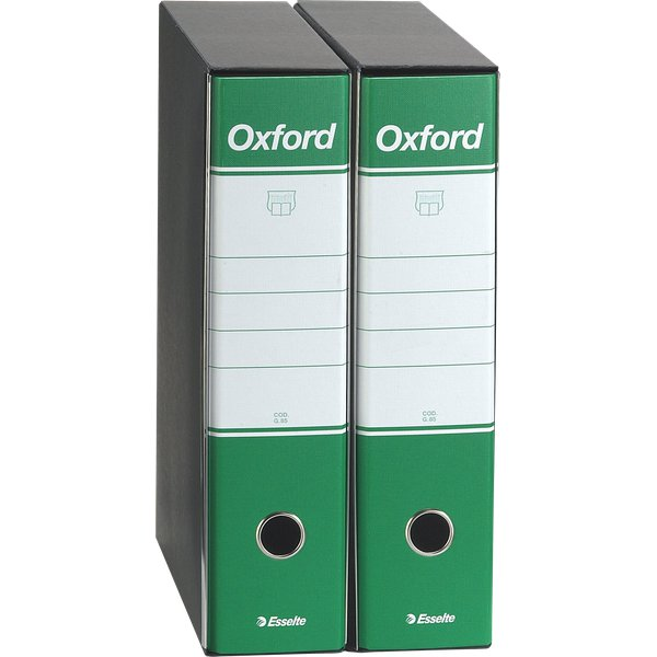 Registratori Oxford Esselte - commerciale - dorso 8 - F.to utile 23x30cm - verde - 390783160 (conf.6)