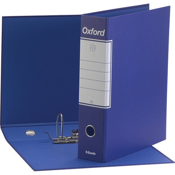 Registratori Oxford Esselte - Protocollo - dorso 8 - F.to utile 23x33 cm - blu - 390785050 (conf.6)