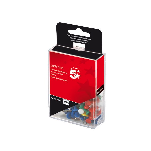 Push pins assortite 5 Star - opaco - 925036 (conf.20)